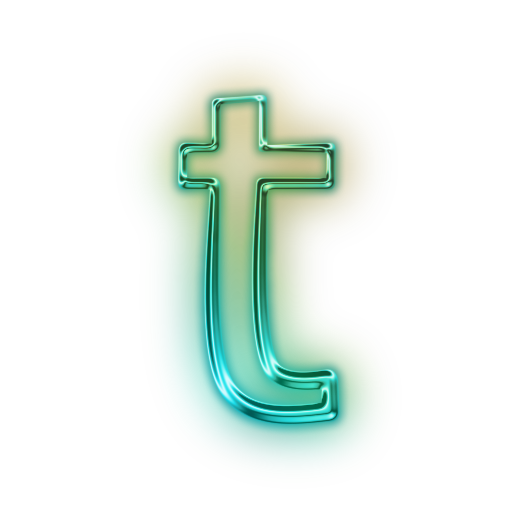 110712 Glowing Green Neon Icon Alphanumeric Letter T.png ...